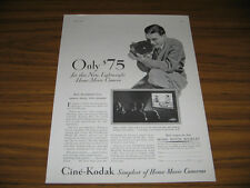 1931 Vintage Ad Cine-Kodak Lightweight Home Movie Cameras