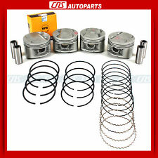 "93-96 Honda Prelude Vtec 2.2L Engine Pistons & Rings Set Kit H22A1 ""P13"" New"