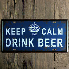 Keep Calm And Drink Beer Metal Sign Tin Plate- 30x15cm