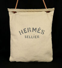 HERMES Ecru Toile Canvas Sellier Logo Leather Strap ALINE Shoulder Bag