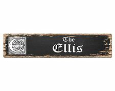 SP0727 The ELLIS Family name Sign Bar Store Shop Cafe Home Chic Decor Gift