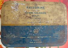 MEDICAL TIN SIGN BOX PALUDRINE BY IMPERIAL CHEMICAL (PHARMACEUTICALS) ENGLAND
