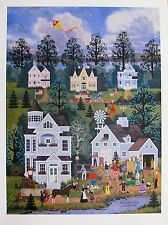 Jane Wooster Scott COUNTRY AUCTION Hand Signed Limited Edition Lithograph