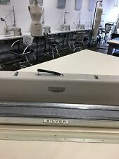 Silver Reed SK 301 Standard Gauge Knitting Machine w Ribber and Accessories