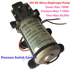 24V DC High Pressure Micro Diaphragm Water Pump 159PSI 8L/Min Automatic Switch