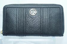Tory Burch Robinson Zip Continental Wallet Black Handbag Leather Bag NWT