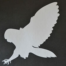 16cm BIRD OF PREY Silhouette Gufo Barn Snowy Tawny CACCIA FALCONERIA Adesivo Decalcomania