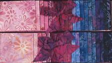 DUO of BATIK JELLY ROLLS  Pink/Fuschia/Purples   Fabrics for QUILT BLOCKS  TOPS