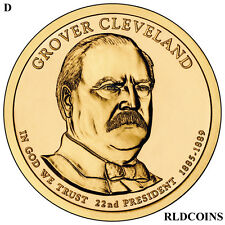 2012 D PRESIDENT GROVER CLEVELAND 1st UNCIRCULATED PRESIDENTIAL DOLLAR  #22D