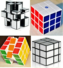 Fast & Smooth COMBO 3x3x3 SILVER Mirror Magic Cube+Color Matching Rubik Cube Set
