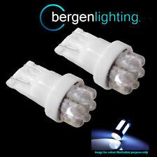 2X W5W T10 501 XENON WHITE 7 DOME LED HAUT NIVEAU AMPOULE FEUX STOP HID
