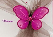 Grand papillon 20x25cm. fuchsia. Décoration de mariage