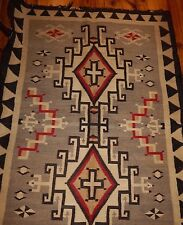 navajo rug antique vintage  woven folk art indian ganado blanket  carpet
