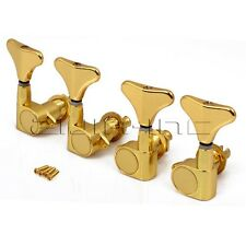 2R2L Golden 4 strings Bass Guitar Tuning Tuner Pegs Machine Heads
