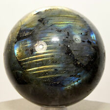 "2.3"" Azure Flash Labradorite Sphere Spectrolite Natural Crystal Ball Madagascar"