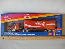 Coca-Cola Siku Eurobuilt 1980's Mac Truck & Trailer MINT in Box W Germany