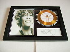 WHITNEY HOUSTON   SIGNED FRAMED GOLD CD  DISC   443233