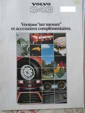 CATALOGUE AUTO : VOLVO : SERIE 343 VERSIONS SUR MESURE ET ACCESSOIRES 1978