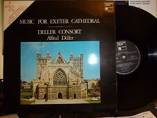 DELLER CONSORT, Alfred Deller MUSIC FOR EXETER CATHEDRAL LP NM/NM harmonia mundi