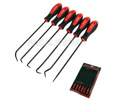 6PC MECHANICS EXTRA LONG REACH HOOK & PICK TOOL SET O-RING & SEAL GASKET REMOVER