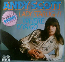 "7"" 1974 GLAM RARE! ANDY SCOTT (= SWEET ) Lady Starlight"