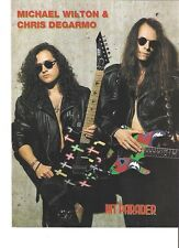 QUEENSRYCHE Michael Wilton & Chris D magazine PHOTO/Poster/clipping 11x8 inches