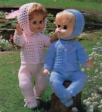 "KNITTING PATTERN BABY DOLLS CLOTHES 18-20""  Double Knit  2 PRAM SETS"