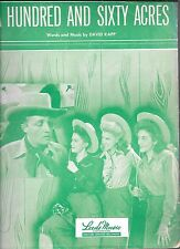BING CROSBY ANDREWS SISTERS 1948 Sheet Music 160 ACRES Robert Mitchum FolIo Ad