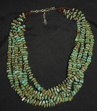 SILPADA - N1535 6-Strand Green Howlite Bronze-Colored Seed Beads Necklace RET