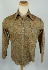 Vtg 60s 70s Psychedelic Hippy Retro Disco Groovy Men's Shirt L/M Dance Atomic