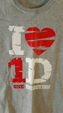 ONE DIRECTION TEE LADIES XS GRAY SHORT SLEEVE GRAPHIC