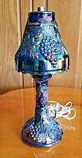 Wetzel Grape and Cable, Blue Eelectric Candle Stick Lamp/ Rare
