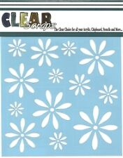 """Clear Scraps 6"""" stencil """"Daisies"""" for airbrush, decorative tole painting"""