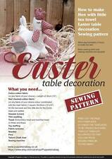 HEN EASTER Table decoration and tea towel , Sewing pattern , booklet - Easter