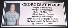 "MMA GEORGES St PIERRE Champion Silver Photo Plaque ""FREE POSTAGE"""