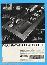 QUATTROR982-PUBBLICITA'/ADVERTISING-1982- VEGLIA BORLETTI  (versione B)
