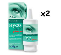 HYCOSAN PLUS Dry Eye Lubri-Drops 15ml - 7.5ml x 2  FREEPOST