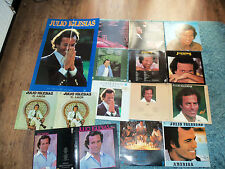 JULIO IGLESIAS - JOB LOT X 10 LPs - LARGE POSTER - LYR - DOUBLE - GATEFOLD - £10