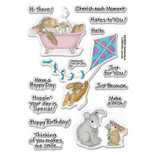 HOUSE MOUSE RUBBER STAMPS CLEAR HOPPY MOMENTS HAPPY HOPPERS STAMP SET