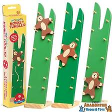 Wooden Monkey Tumbler Ladder Click Clack Sensory Toddler Toy Stocking Filler