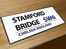 Stamford Bridge Chelsea Calcio Cartello stradale Bar runner Pub & Cocktail Bar
