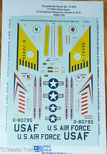 Microscale Decal #MS72-876  F-106A Delta Darts: A14 Defense Weapons Center & AD