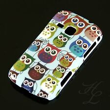 Samsung Galaxy Mini 2/s6500 Hard Case Cellulare Astuccio Cover Colorati Gufo Owl