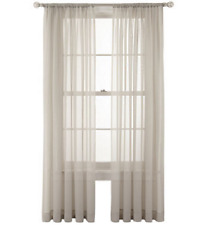 "*MarthaWindow Voile Rod-Pocket Sheer Panel 60""Wx108""L French Taupe NEW"