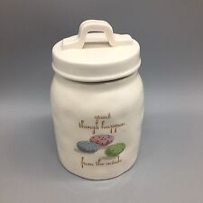 Rae Dunn Artisan Canister Sugar Jar Treats Candy Speckled Easter Eggs Spring NEW