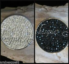 GENUINE MI MILANO BLACK/WHITE REVERSIBLE CRYSTAL COIN/MONEDA FOR NECKLACE AJMM