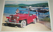 1950 Willys Jeepster print  (red, no top)