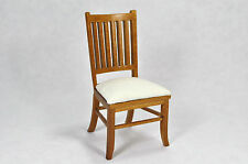 Dollhouse Miniature 1:12 Scale Mission Style Side Chair #12081WN