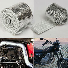 1M MOTORCYCLE RACING HEADER EXHAUST DOWN PIPE PROJECT HEAT COVER WRAP CHROME
