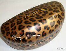 Guess  Sun Glasses Glass SunGlasses Hard Case Holder Cleaning Cloth Eyewears NWT